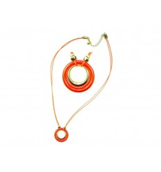 Orange necklace with ring