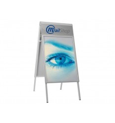 Poster Stand with Logo Plate