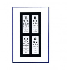 Near Vision chart, letters