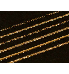 """Set of chains """"Noblesse"""", gold-plated, 6 pcs"""